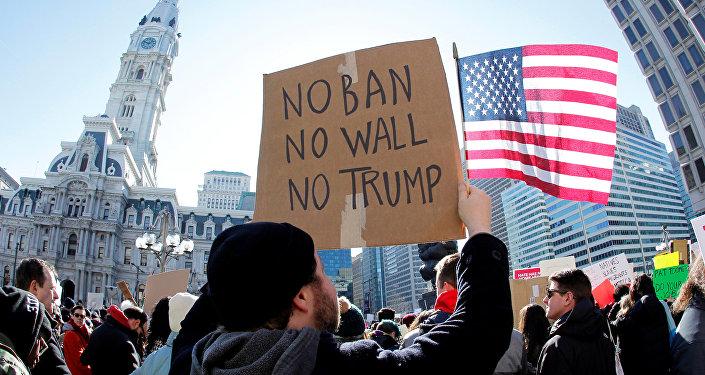Protesta contra la política migratoria de Trump (archivo)