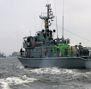 Buque Goplo de la Armada de Polonia (archivo)