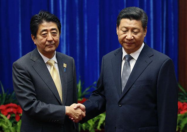 Shinzo Abe y Xi Jinping