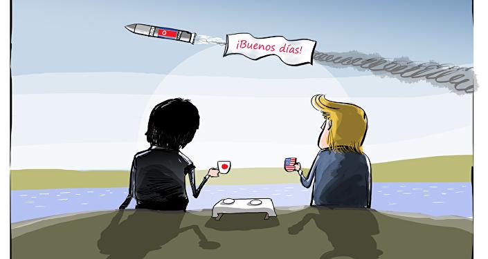Kim Jong-un envía un 'saludito' a Japón y EEUU
