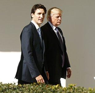Primer ministro de Canadá, Justin Trudeau, y presidente de EEUU, Donald Trump