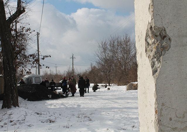 Donbás tras bombardeos (archivo)