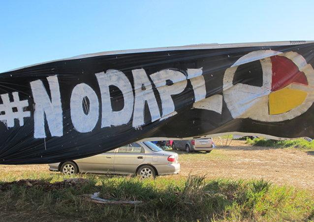 Protesta contra la construcción de oleoducto Dakota Access (archivo)