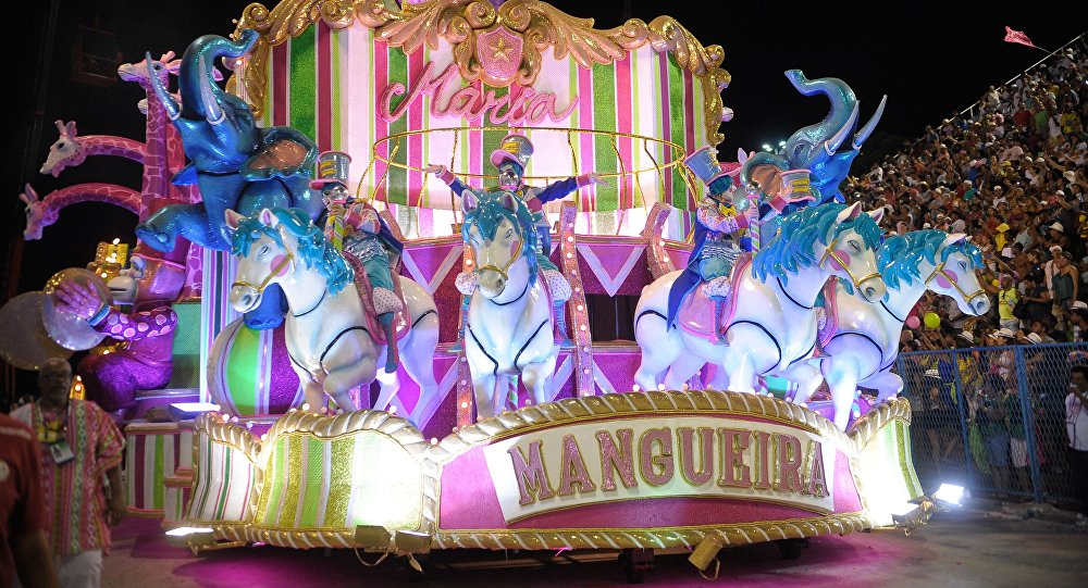 La escuela de samba de Mangueira, campeona del Carnaval de Río de Janeiro (archivo)