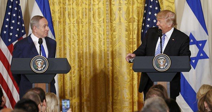 Benjamin Netanyahu, primer ministro de Israel, y Donald Trump, presidente de EEUU