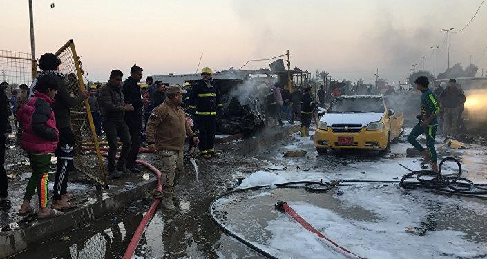 Explosión en Bagdad (archivo)