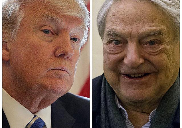 Donald Trump (a la izquierda) y George Soros (a la derecha)