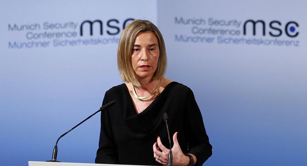 La Alta Representante de Política Exterior y de Seguridad Común de la Unión Europea, Federica Mogherini