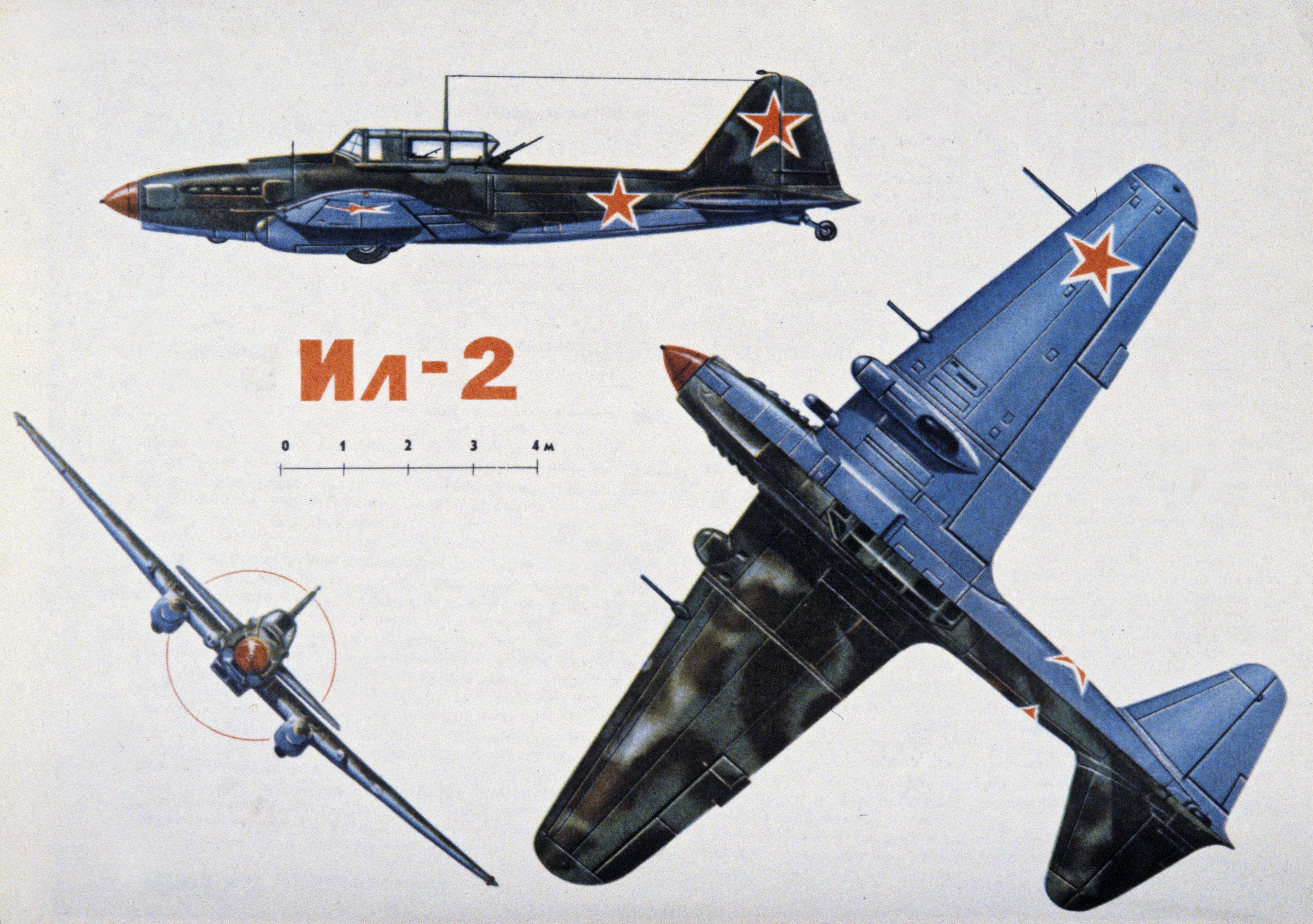 IL-2 'Shturmovik' reproducido en el libro 'Las Armas de la Victoria 1941-1945'