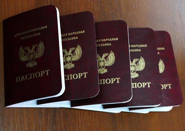 Pasaportes de la autoproclamada república de Donetsk