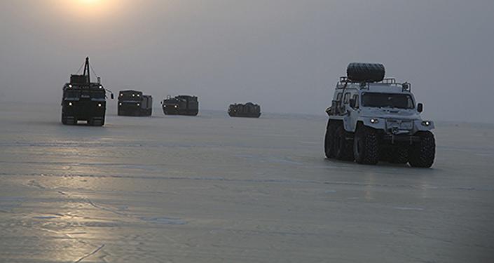 Maniobras militares rusas en el Ártico (archivo)