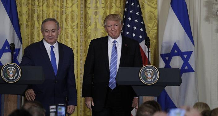 El primer ministro de Israel, Benjamín Netanyahu, y Donald Trump, presidente de EEUU