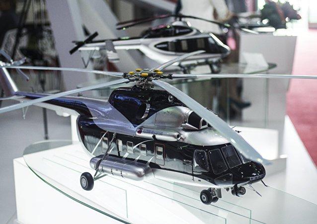Maqueta de helicóptero polivalente Mi-171A2