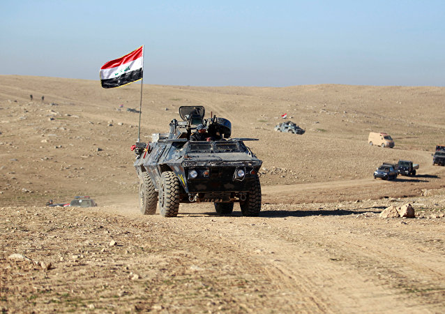 Soldados del Ejército iraquí en Mosul