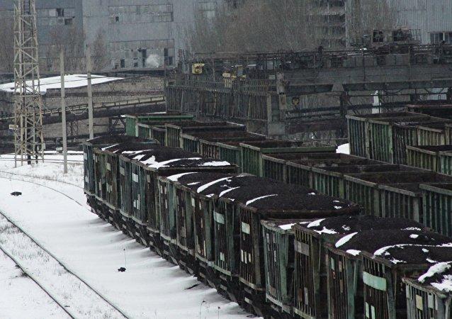 Transporte ferroviario con carbón en Donetsk