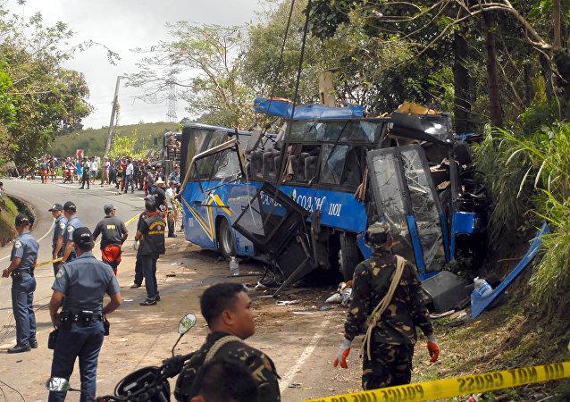 Accidente de tráfico en Filipinas