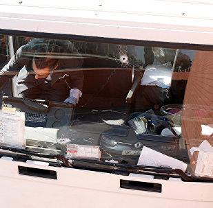 El camión robado lleno de bombonas de gas butano