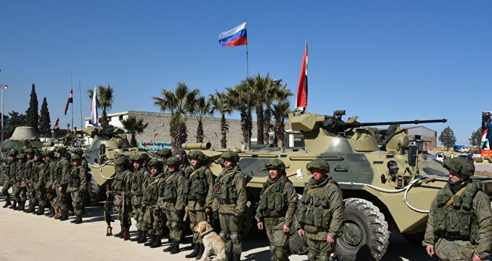 Zapadores rusos en Alepo