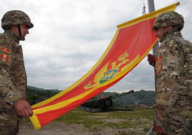 Soldados del Ejército de Montenegro