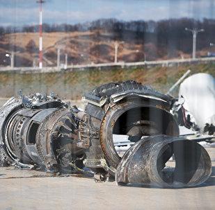 Los restos del avión Tu-154
