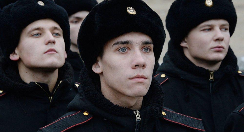 Los infantes de marina de Rusia