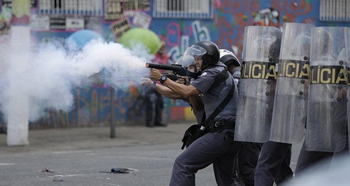 Disturbios en Sao Paulo