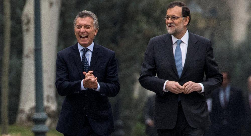 Mauricio Macri, presidente de Argentina, y Mariano Rajoy, presidente del Gobierno español