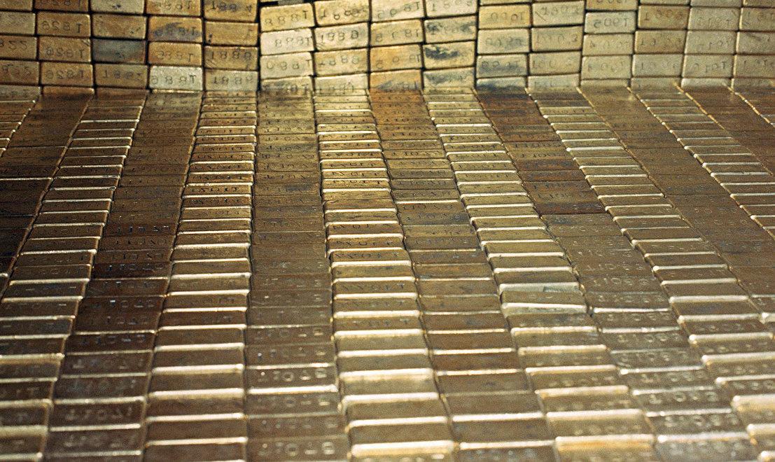 Barras de oro almacenadas en Fort Knox (1974)