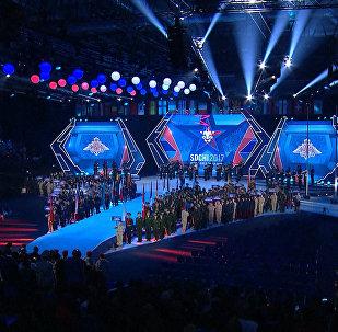 Espectacular ceremonia de apertura de los juegos militares en Sochi
