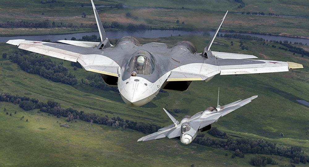 El caza Sukhoi Su-57 del proyecto PAK FA