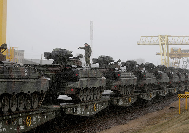 El último lote de vehículos militares de Alemania ha llegado a Lituania