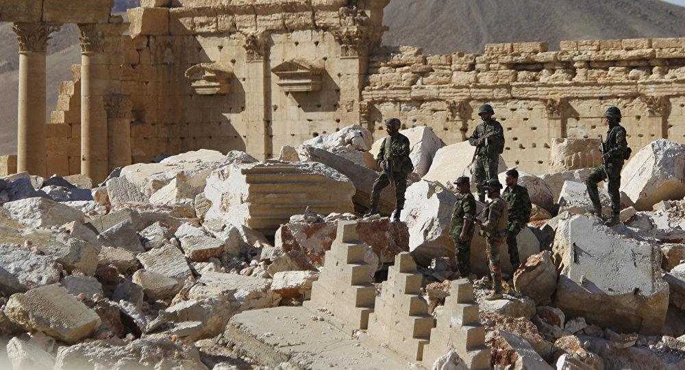 Militares sirios en Palmira (archivo)