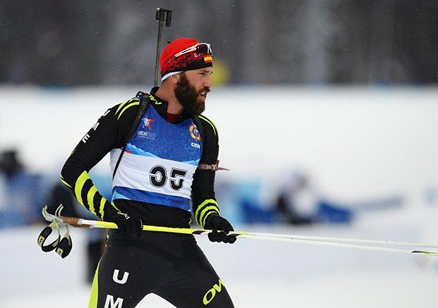 Pedro Quintana, deportista español, en los III Juegos Militares en Sochi