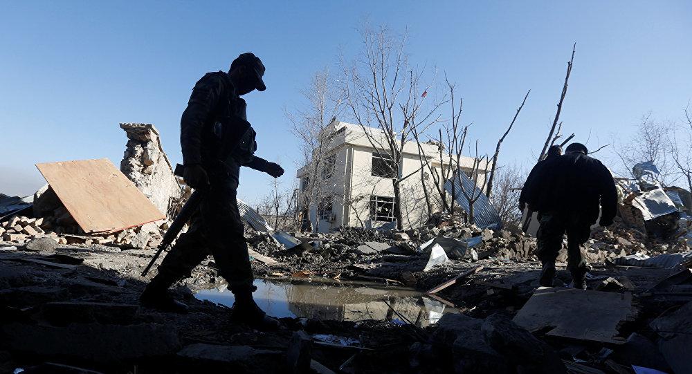 Lugar de explosión en Kabul (archivo)