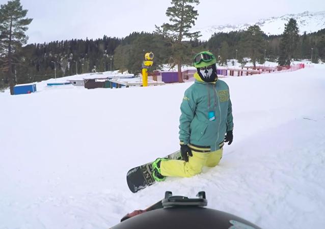 Esquiador de snowboard