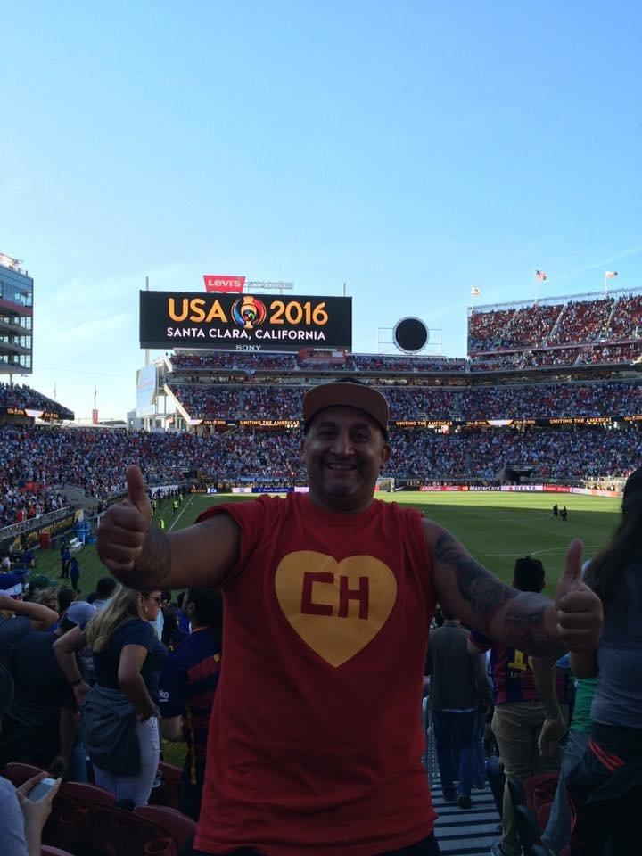 El Chapulín durante un partido de la Copa América Centenario en California