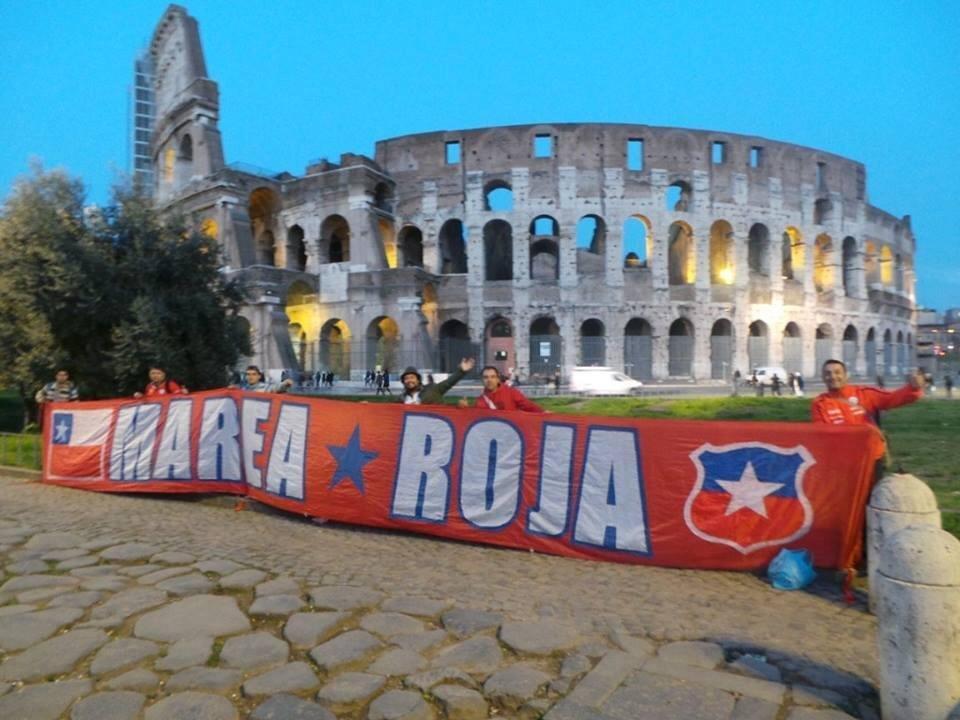 La barra 'Marea Roja' en Roma