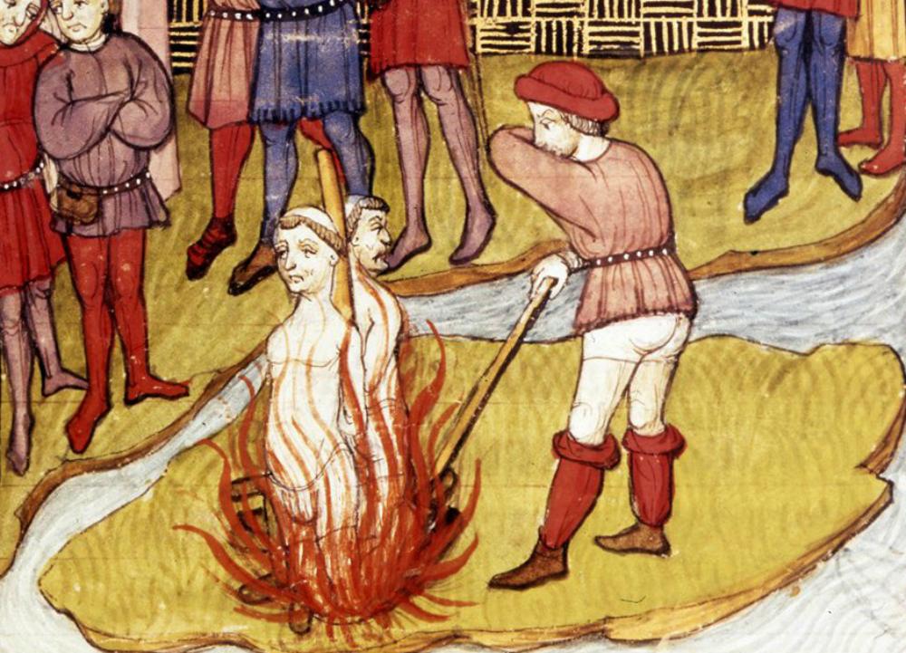 La ejecución de dos templarios