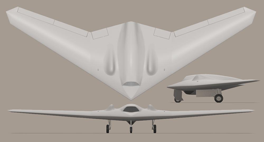 El RQ-170 Sentinel (ilustración)