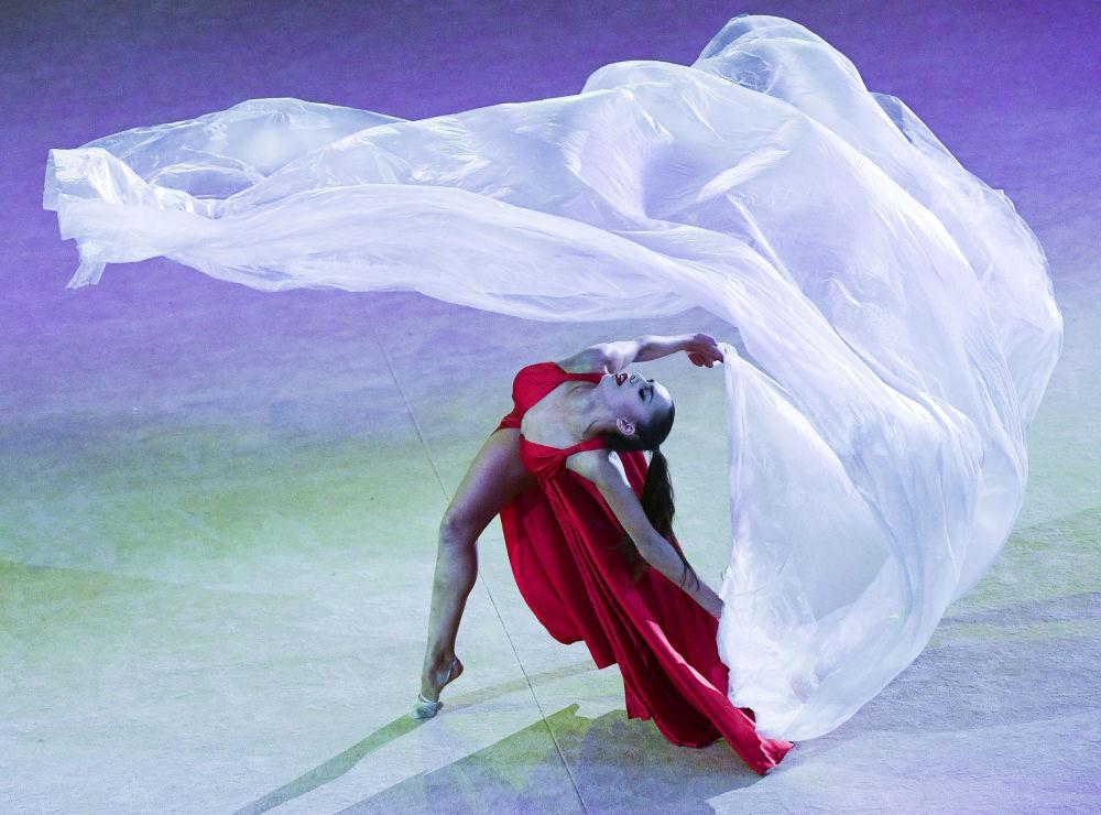 La gimnasta rusa Margarita Mamún