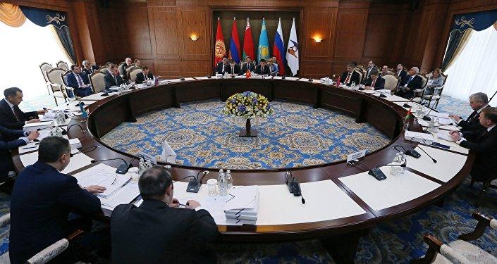 Reunión del Consejo Intergubernamental de la Unión Económica Euroasiática (archivo)