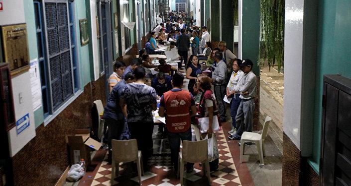 Conteo de votos en Ecuador