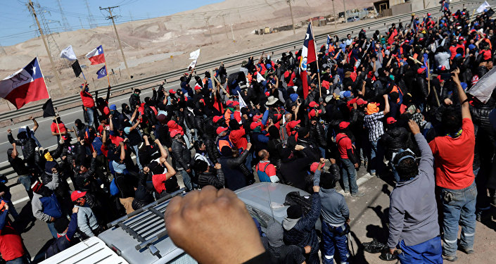 Huelga minera en Chile
