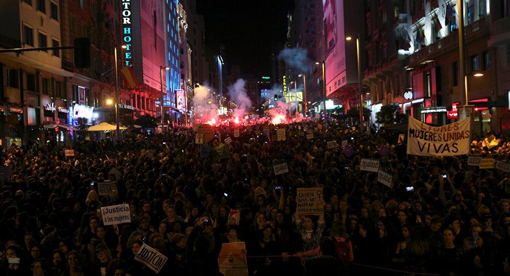 Manifestación contra el machismo en Madrid