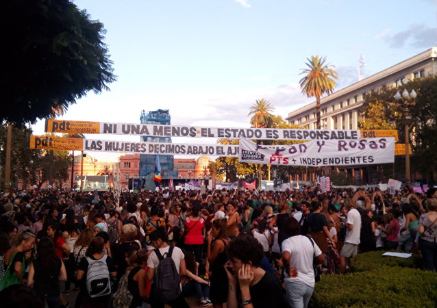 Marcha de mujeres en Buenos Aires