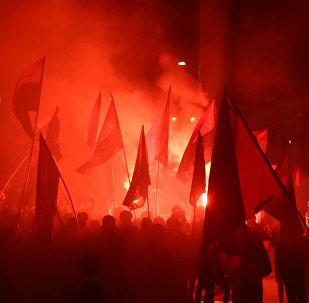 Manifestación de mujeres por el 8 de Marzo