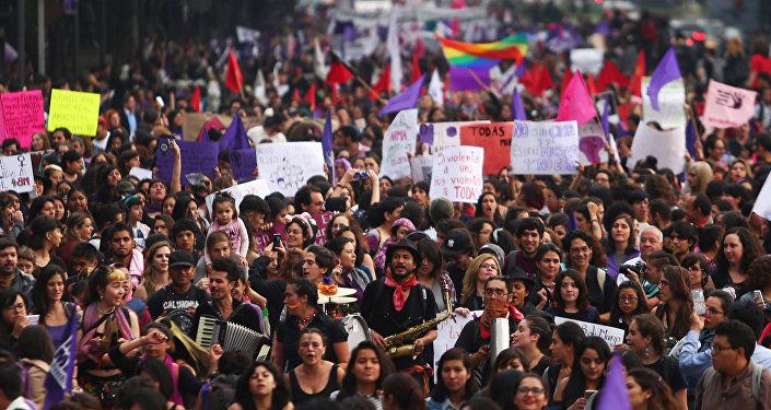 Marcha por el Día Internacional de la Mujer en la Ciudad de México