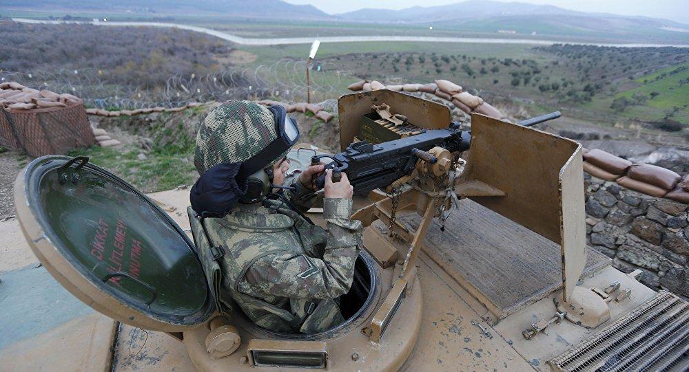 Militar turco en la frontera con Siria (archivo)