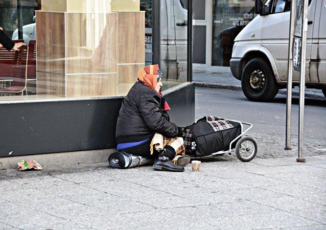 Una persona pobre