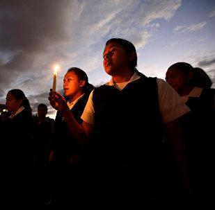 Homenaje a las víctimas del incendio en Guatemala (archivo)